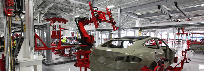 Tesla Robots, robotics, tesla manufacturing, automation,