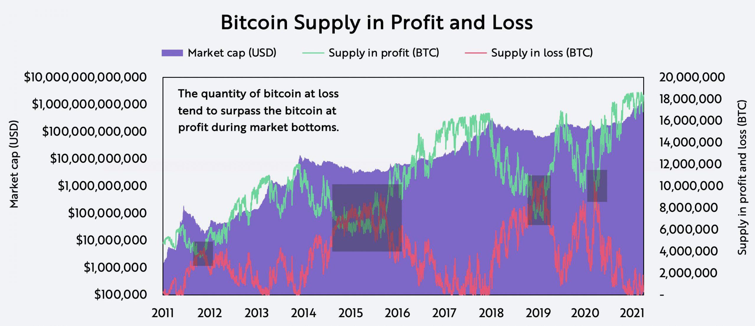 ARK Bitcoin Buyer Seller Supply Profits Losses